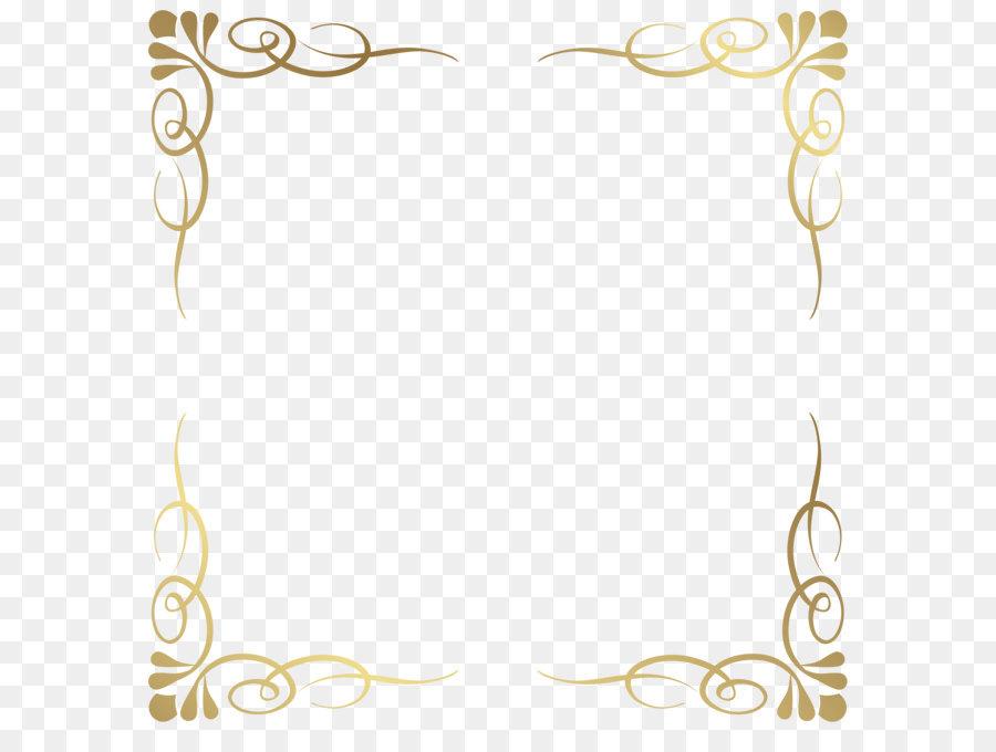 Picture frame Clip art - Transparent Decorative Frame Border PNG ...