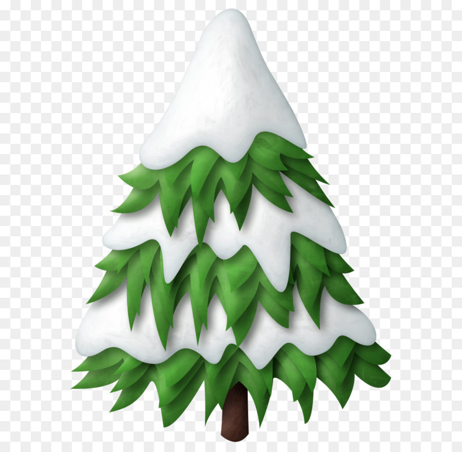 Tree Snow Pine Clip Art Green Snowy Christmas Tree Png Clipart Png