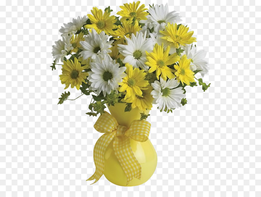 Flower bouquet Teleflora Gift Flower delivery - Vase with Yellow and ...