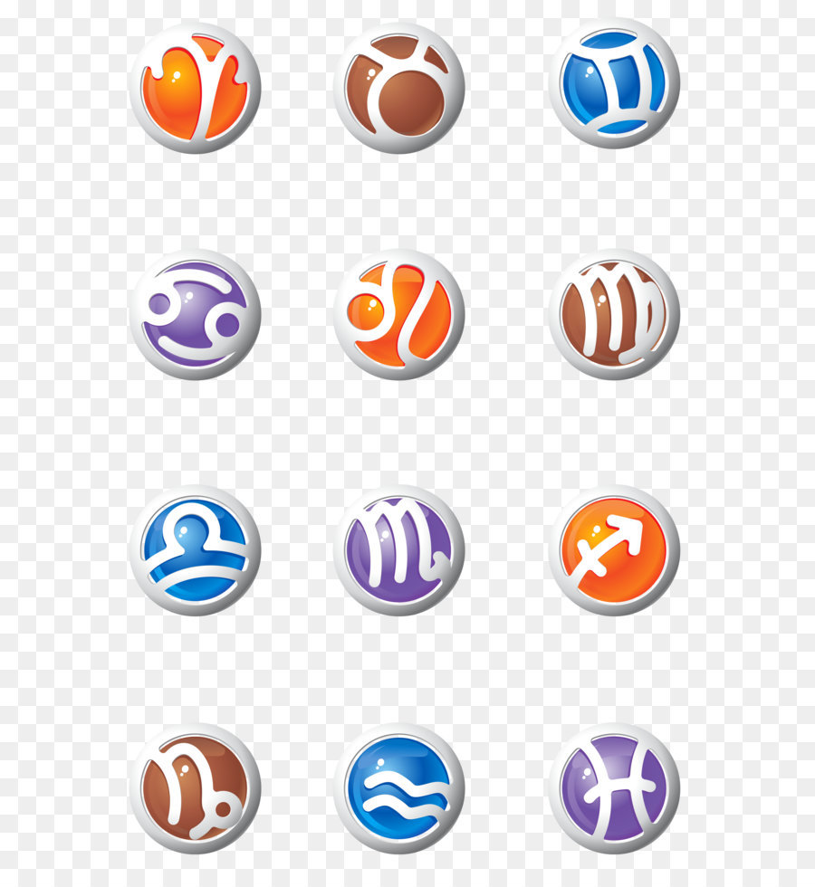 Astrological sign Clip art - Zodiac Signs Set PNG Clipart Picture ...