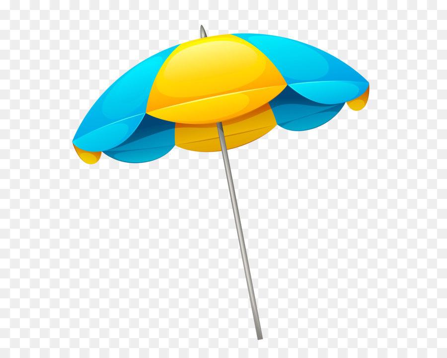 Umbrella Beach Clip Art Yellow Blue Beach Umbrella Png Clipart Png