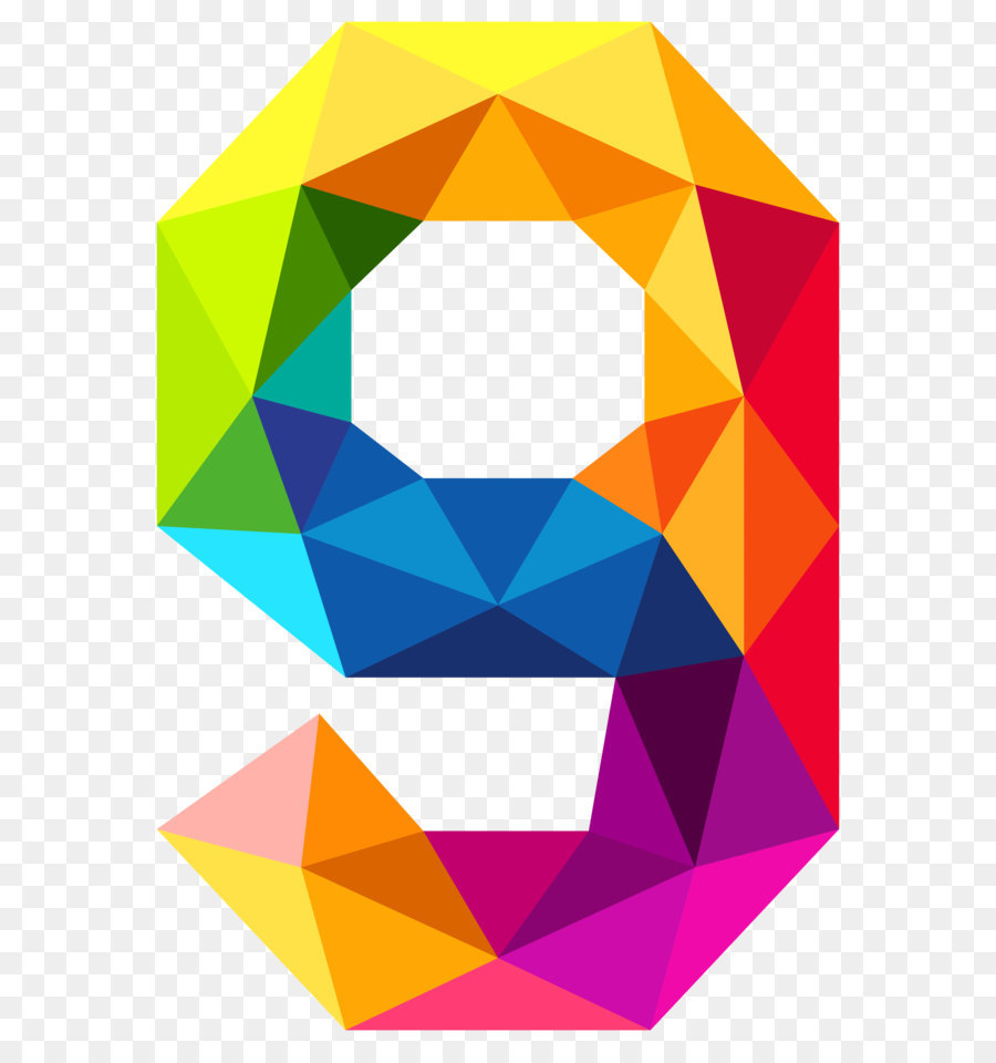 triangular number color clip art colourful triangles number nine rh kisspng com number clip art free number clip art 1-10