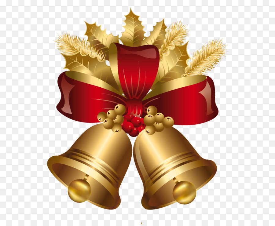 Christmas decoration jingle bell gold golden and red christmas