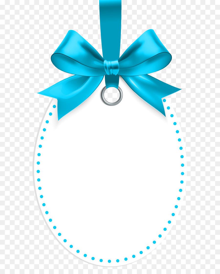 Hadiah Clip Art Label Dengan Busur Biru Template Clip Art Png