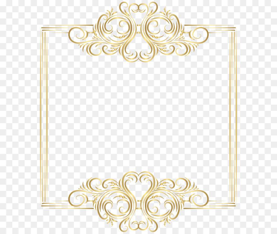 Gold Clip art - Gold Border Frame PNG Clip Art png ...