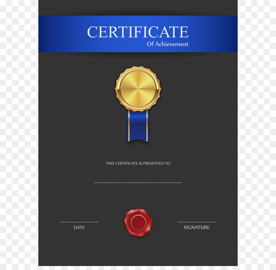 Black Blue Red Brown White certificates - Blue and Black Certificate ...