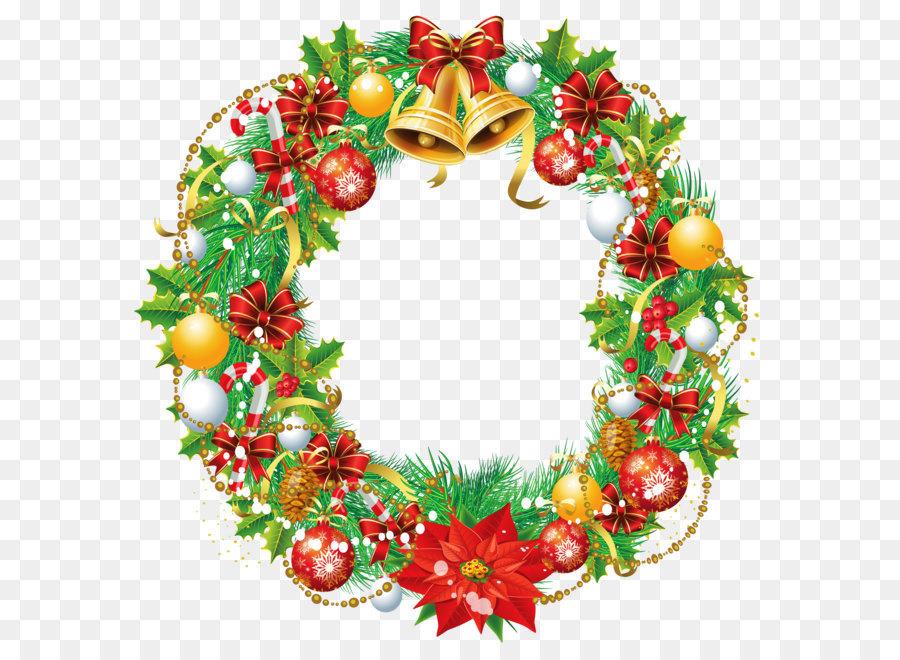 Christmas Wreath Cartoon Santa Claus Stock Illustration