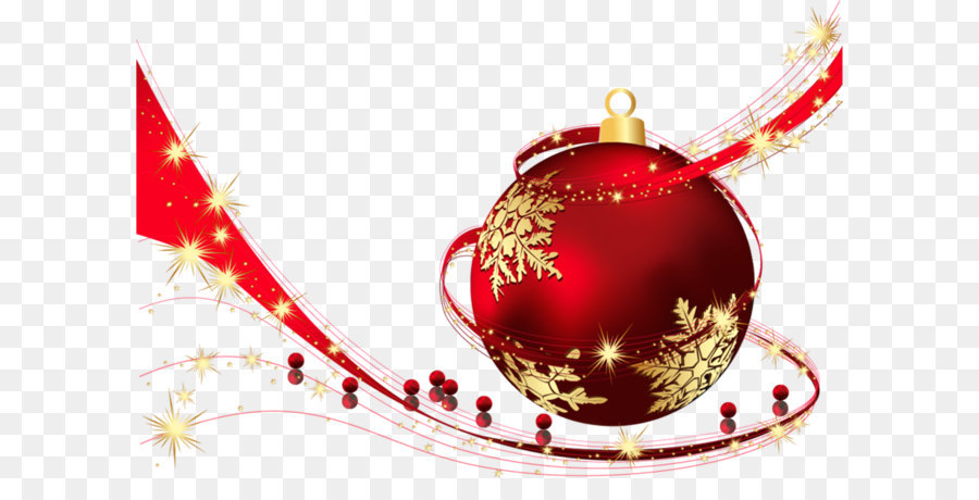 Red Transparent Christmas Ball PNG Clipart