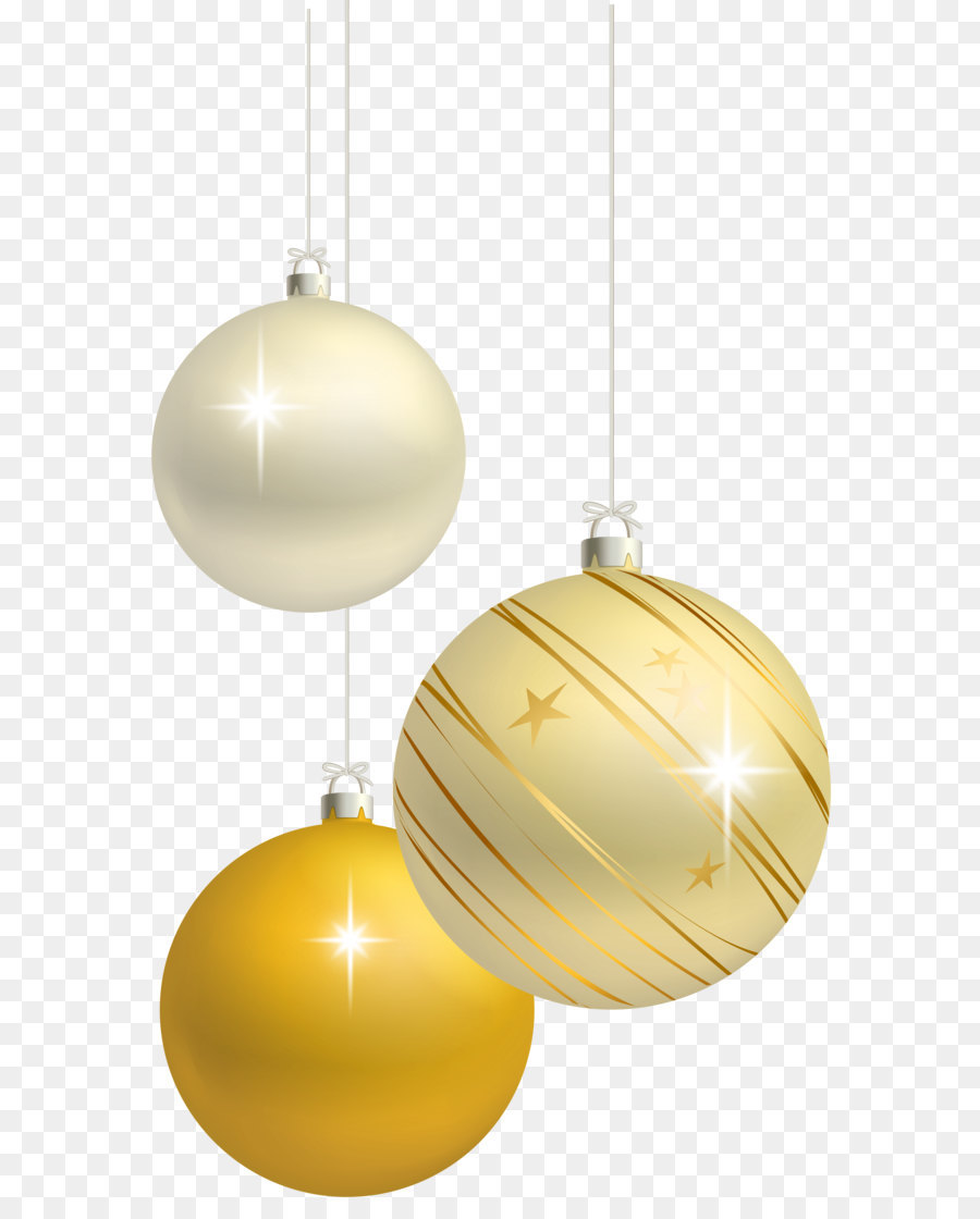 christmas ornament clip art white and yellow christmas balls decoration png clipart image - White And Gold Christmas Ornaments