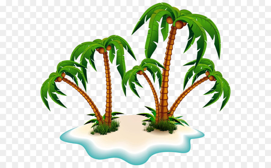 Arecaceae Tree Clip Art   Palm Trees And Island PNG Clipart Picture