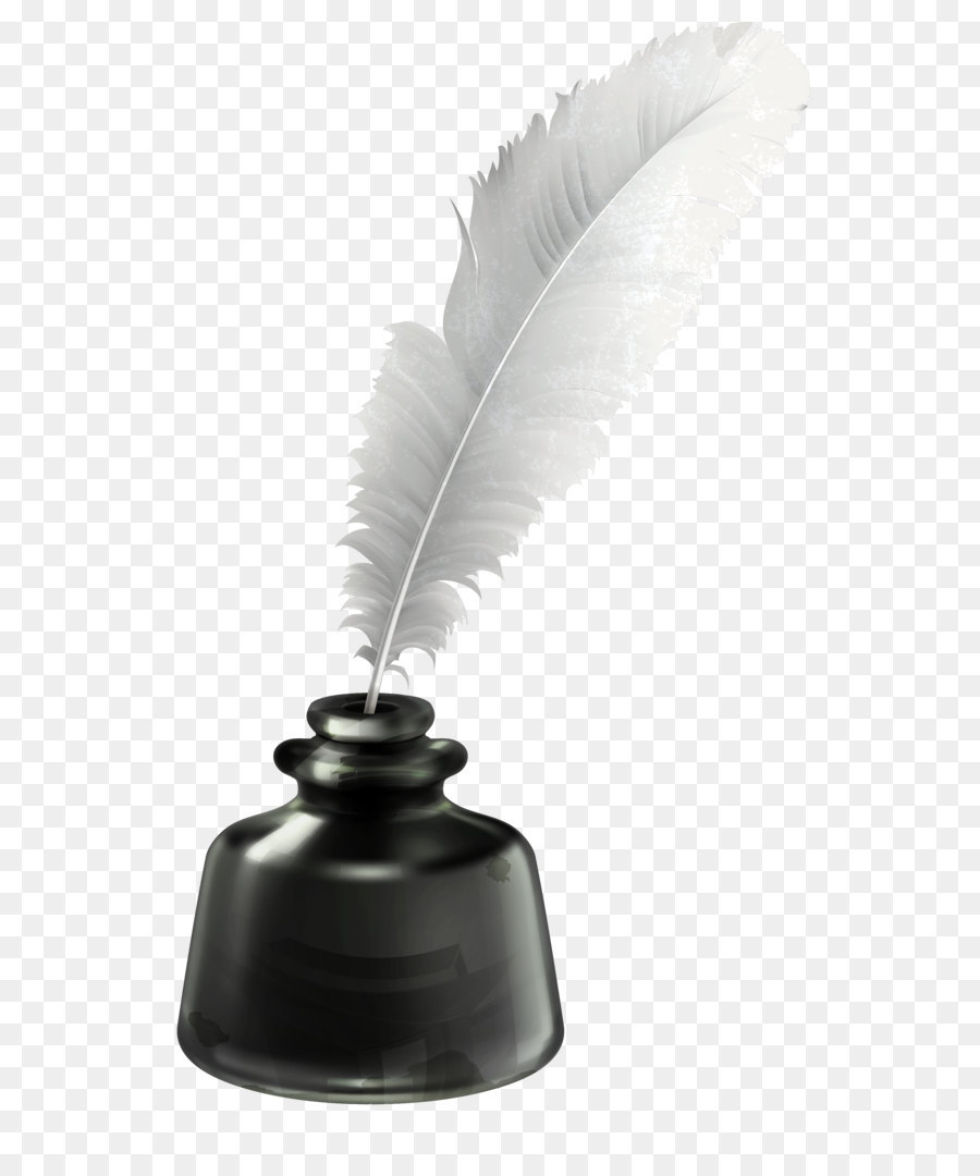 Inkwell Quill Clip art - Quill and Ink Pot Transparent PNG ...