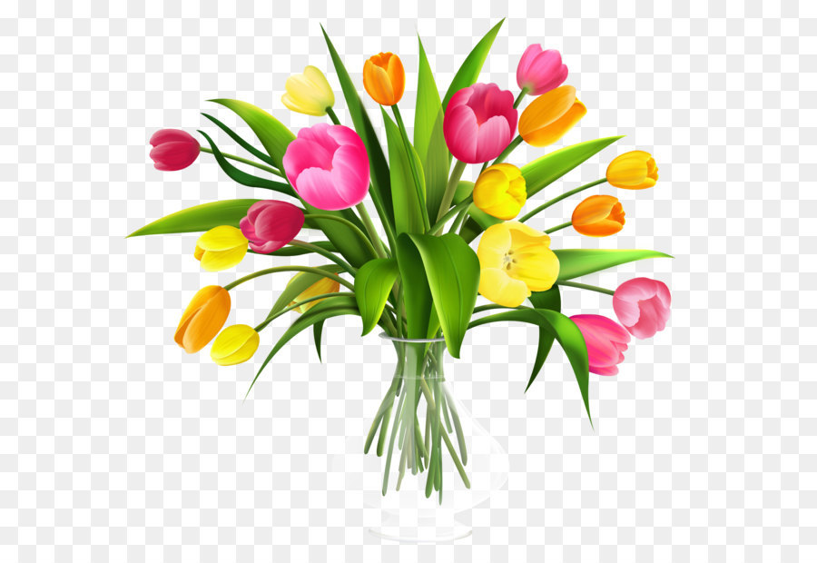 Free Flowers In A Vase Clipart Download Free Clip Art: Tulip Bouquet Di Fiori Clip Art