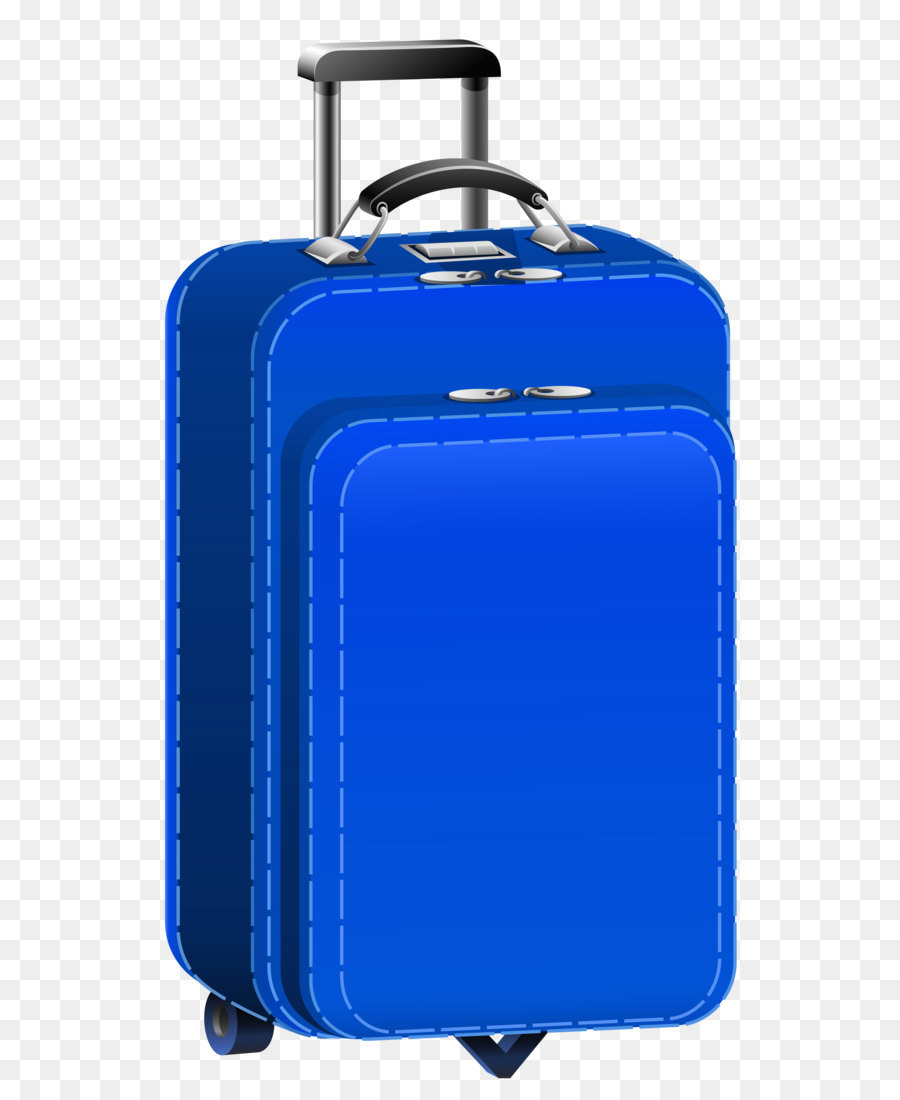 Suitcase Baggage Travel Clip Art Blue Travel Bag Png Clipart