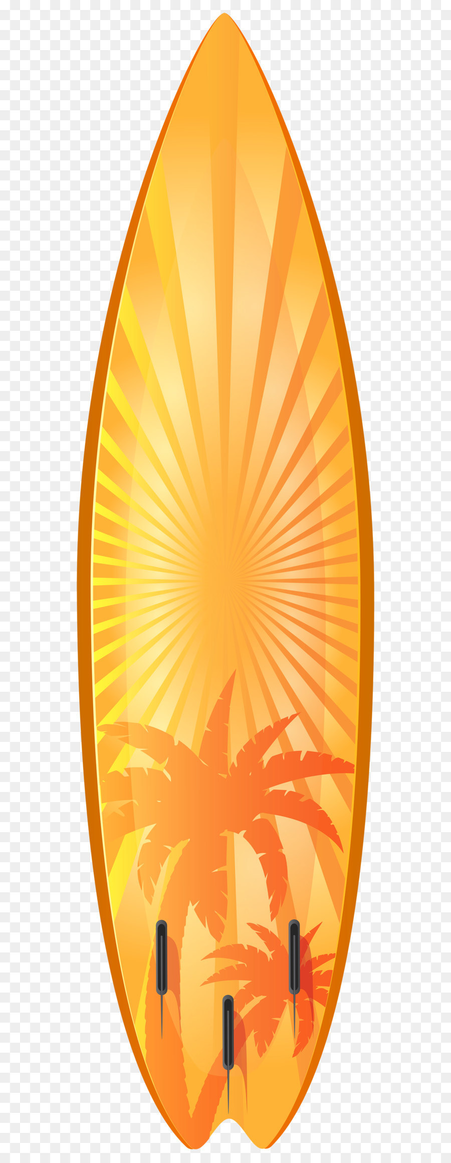 Surfboard Surfing Clip art - Orange Surfboard with Palm Trees ...