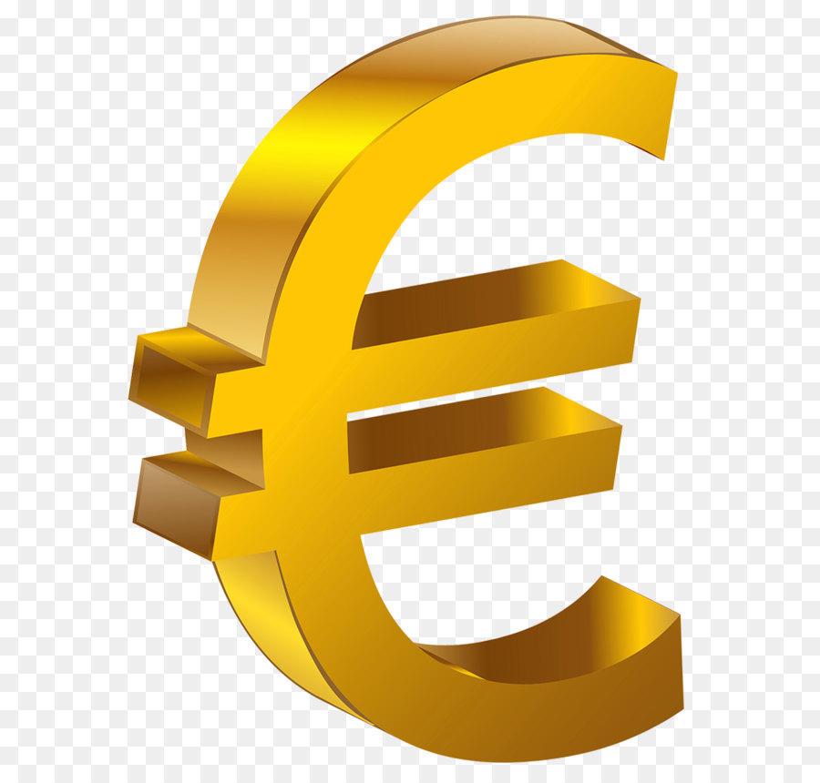 Euro Sign Clip Art Transparent Gold Euro Png Clipart Png Download