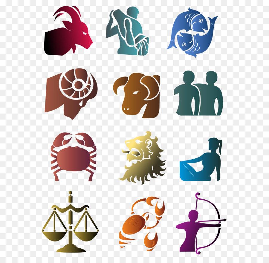 Zodiac Astrological sign Symbol Clip art - Zodiac Signs Set Large ...