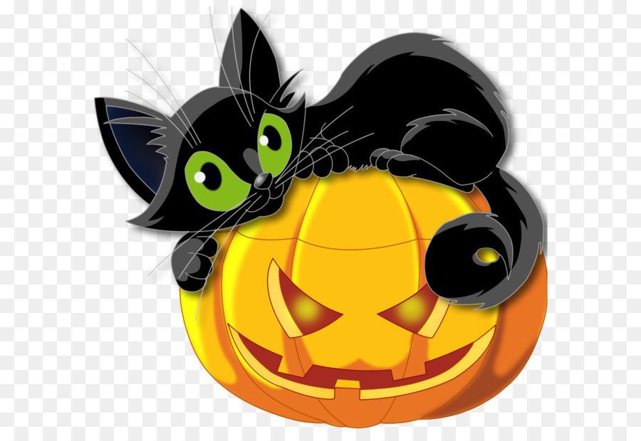 Black Cat Pumpkin Png