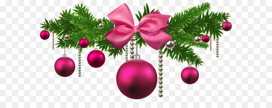 pink christmas balls decoration png clipart - How To Decorate Christmas Balls