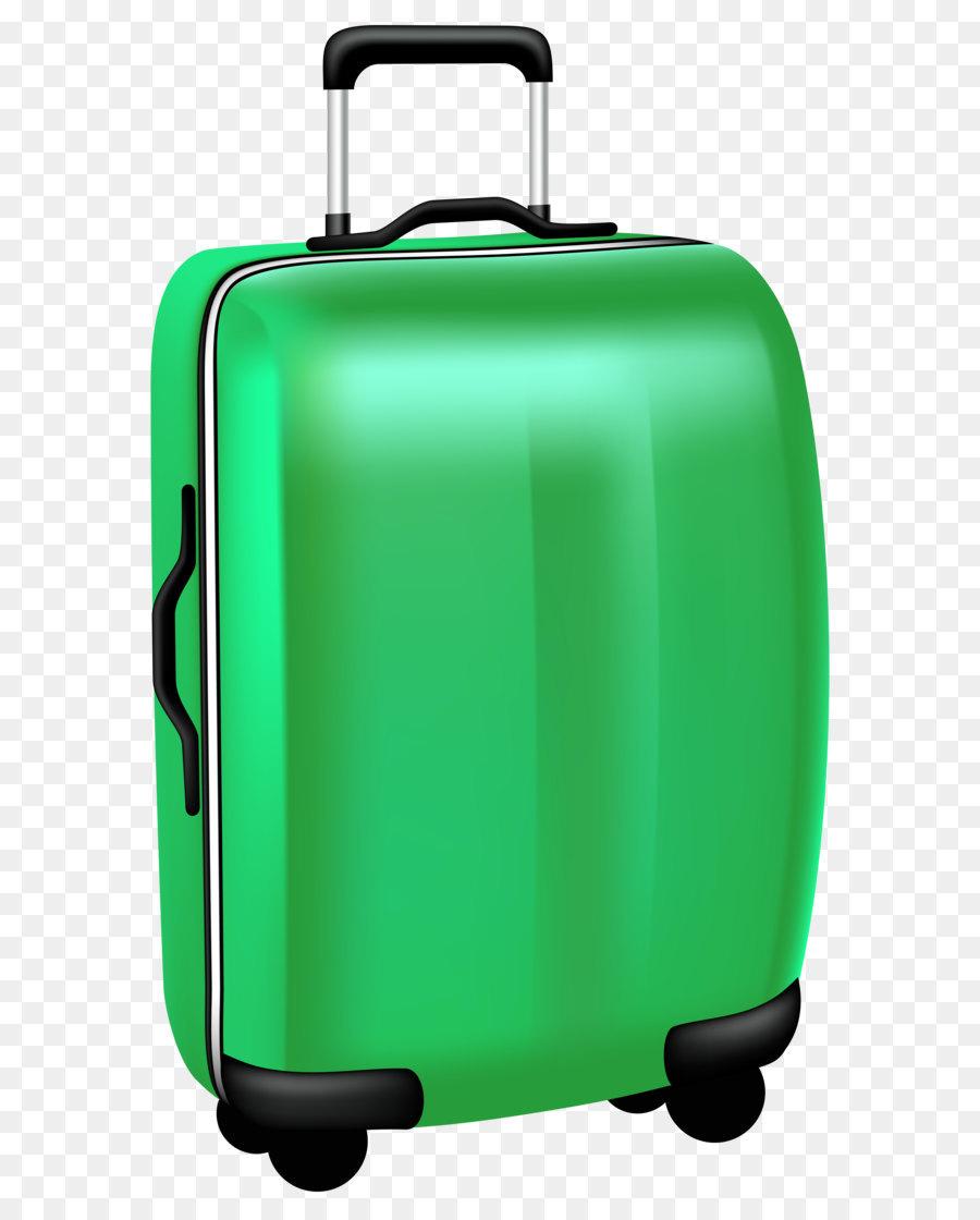 Green Trolley Travel Bag PNG Transparent Clip Art Image