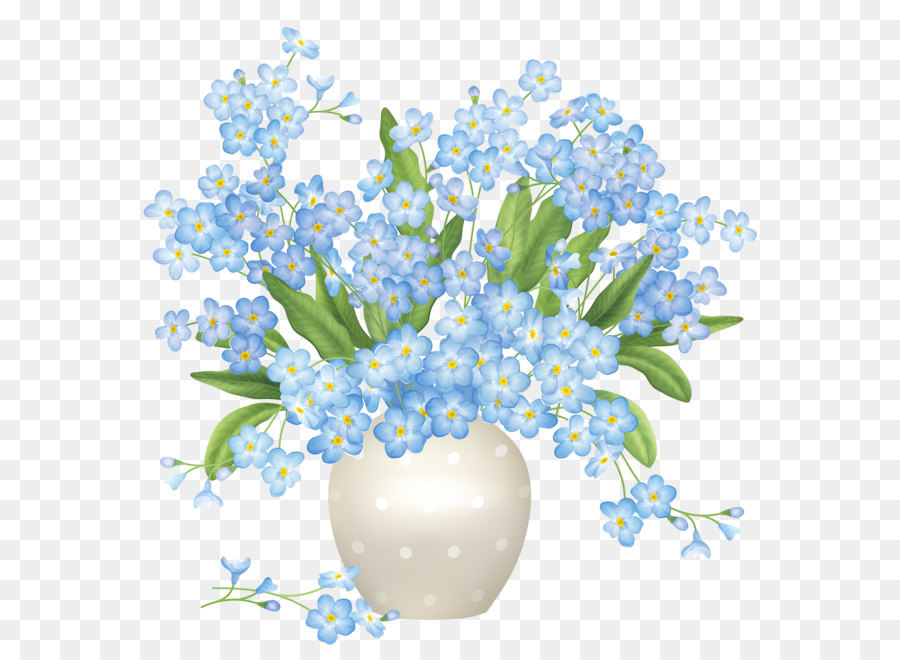 Free Flowers In A Vase Clipart Download Free Clip Art: Blue Flowers Vase PNG Clipart