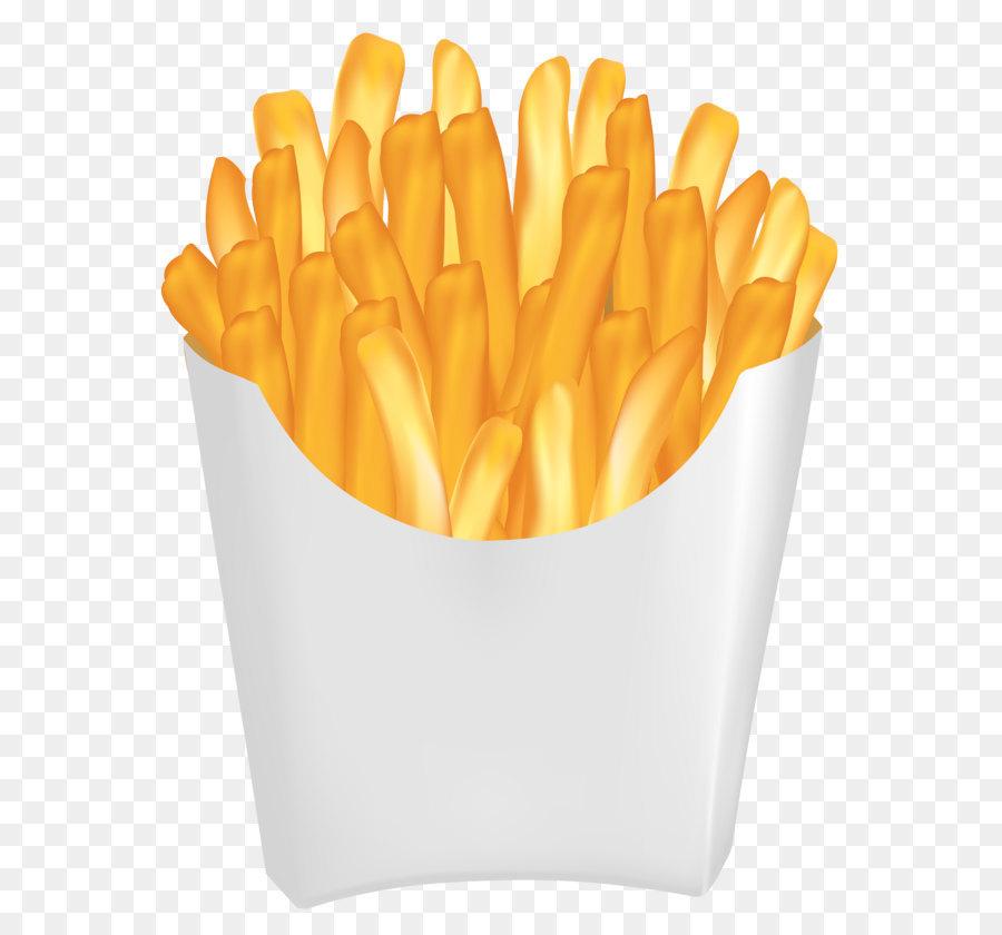 Orange Fruit Vector Hamburger French fries...