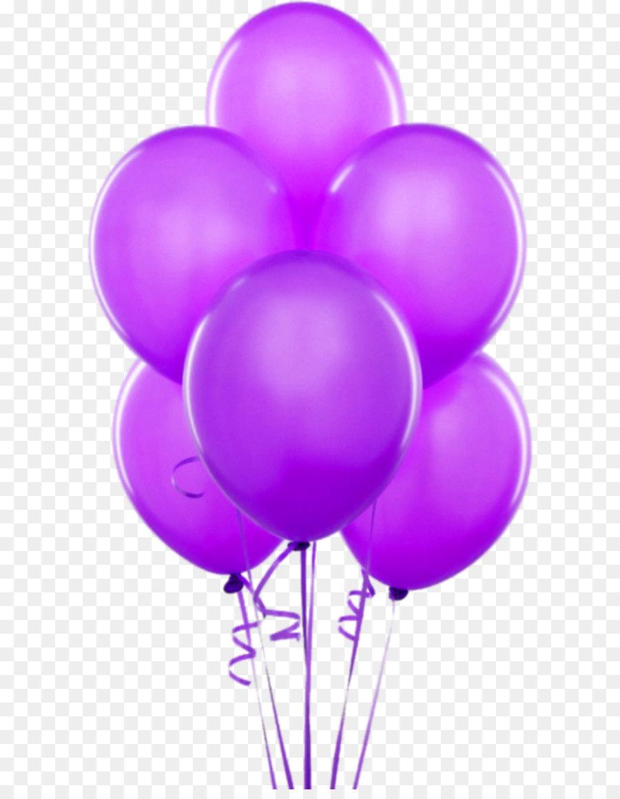 Balloon Gold Birthday Party Helium Purple Transparent