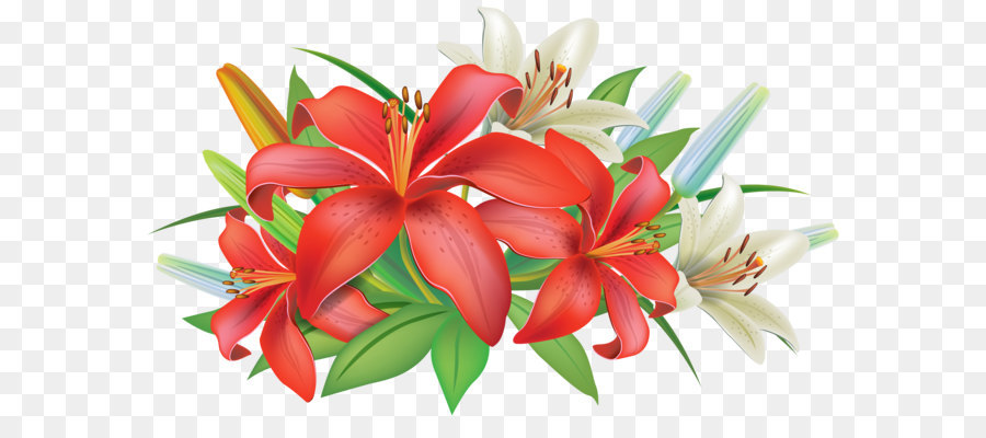 Pink Flowers Easter Lily Clip Art Red Lilies Flowers Decoration