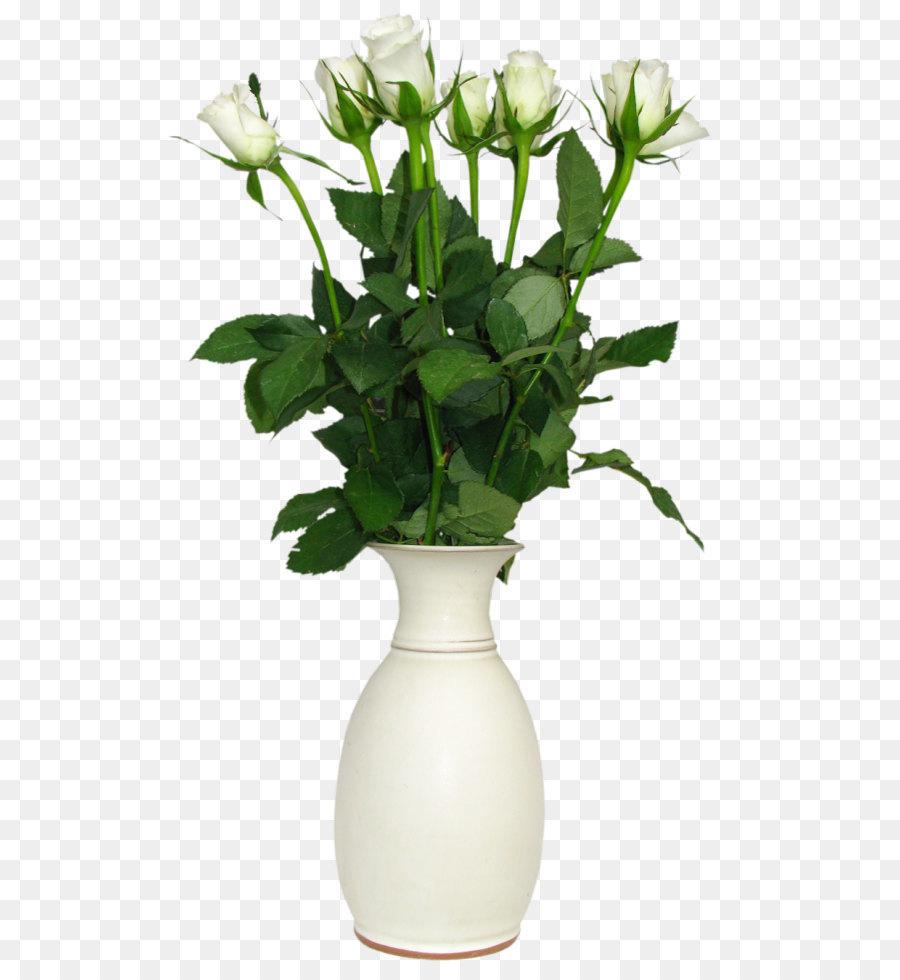 Vase Flower Rose Plant PNG  sc 1 st  KissPNG & Flower Rose Vase Clip art - Transparent White Rose in Vase Picture ...