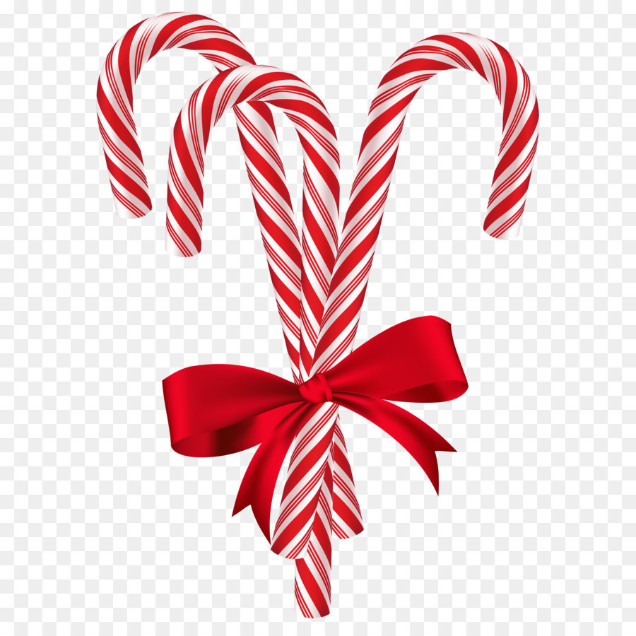 candy cane christmas card santa claus christmas tree candy canes with red bow png clip art image - Candy Cane Christmas