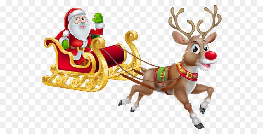 santa claus christmas decoration christmas eve santa suit transparent christmas santa and sledge png clipart - Christmas Eve Clipart