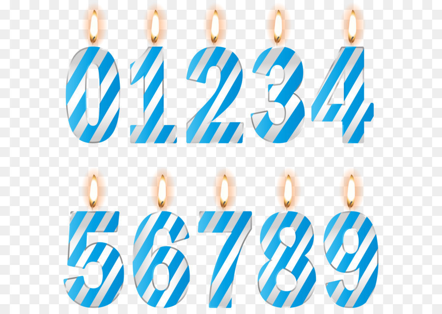 Birthday Clip Art Numbers Birthday Candles Blue Png Clip Art Image