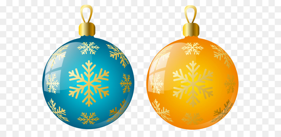 christmas ornament christmas decoration clip art large size transparent yellow and blue christmas ball ornaments - Orange Coloured Christmas Tree Decorations
