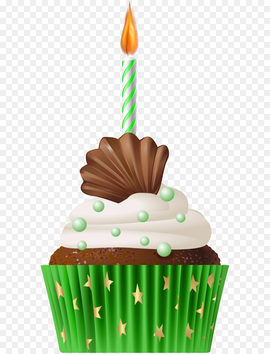 Birthday Cake Candle Clip Art Birthday Muffin Green With Candle