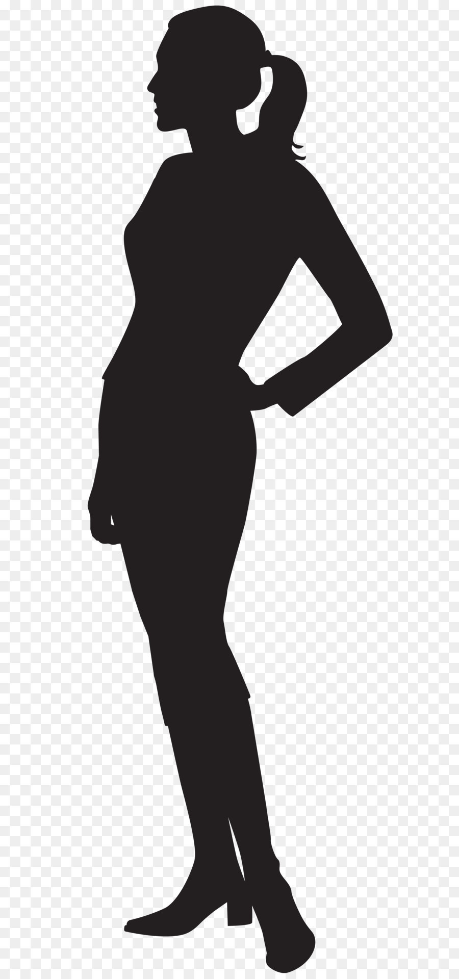 Female Silhouette Clip Art PNG Image