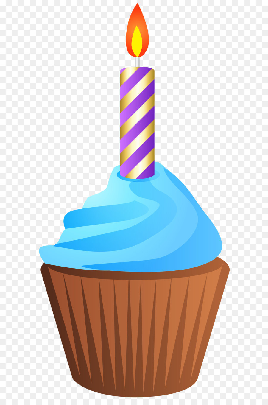 muffin birthday cake clip art birthday muffin with candle rh kisspng com