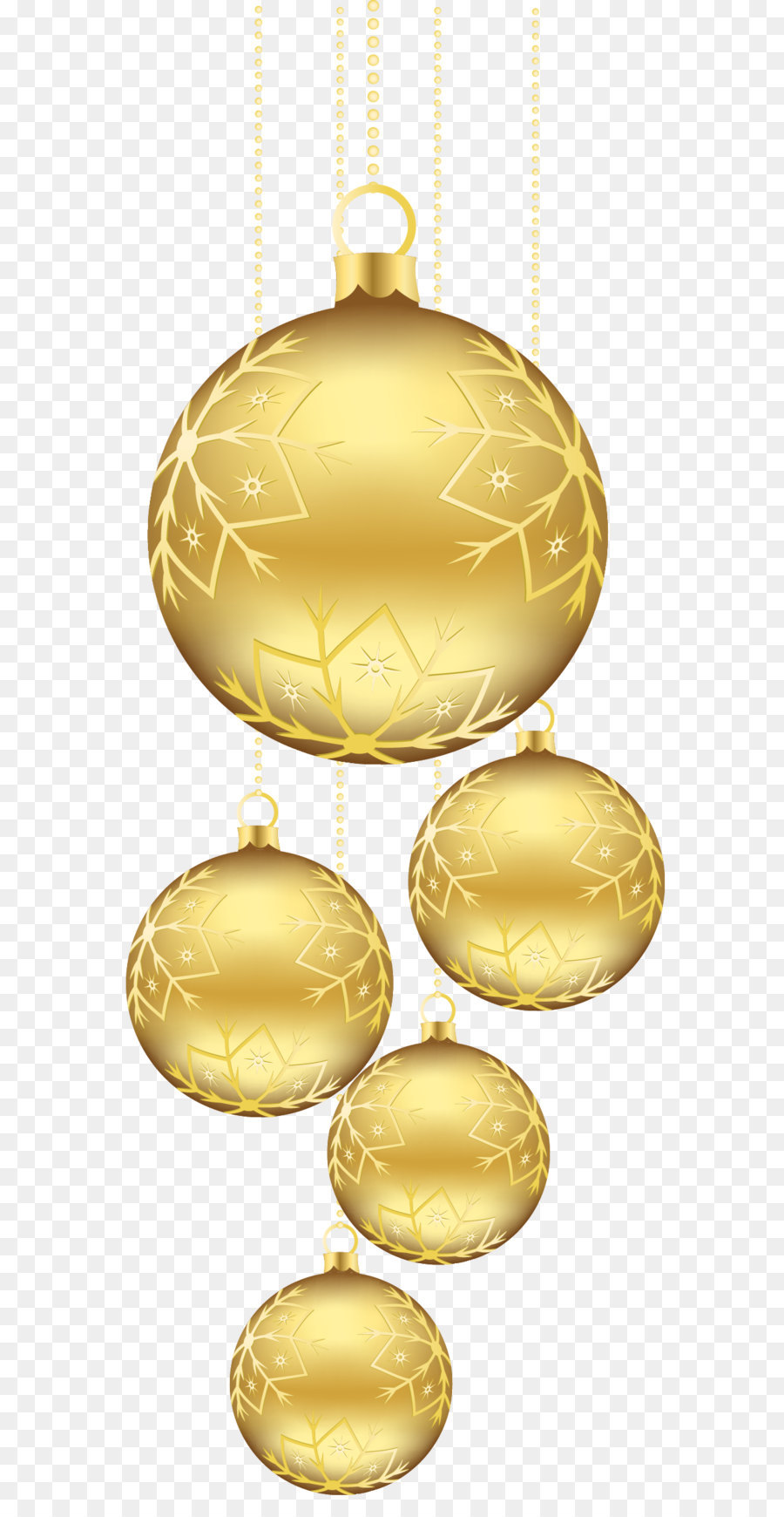 Christmas Ornament Gold Clip Art