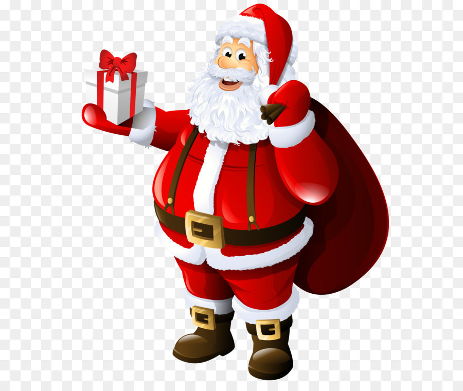 Mrs Claus Santa Claus Gift Clip Art Transparent Santa Claus With Gift And Bag