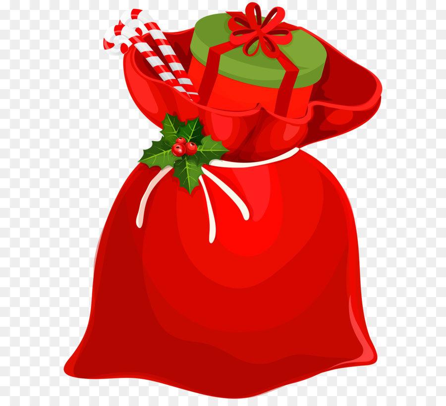 f6adef7b957fb Santa Claus Christmas ornament Gift Clip art - Christmas Santa Bag ...