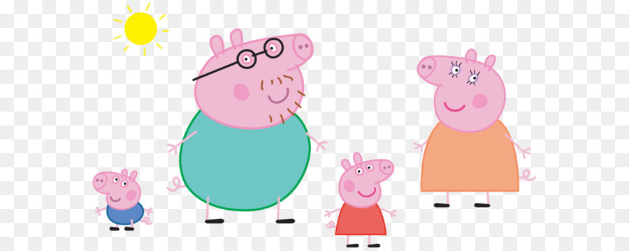 Daddy Pig Pink png download - 8000*4419 - Free Transparent Daddy Pig