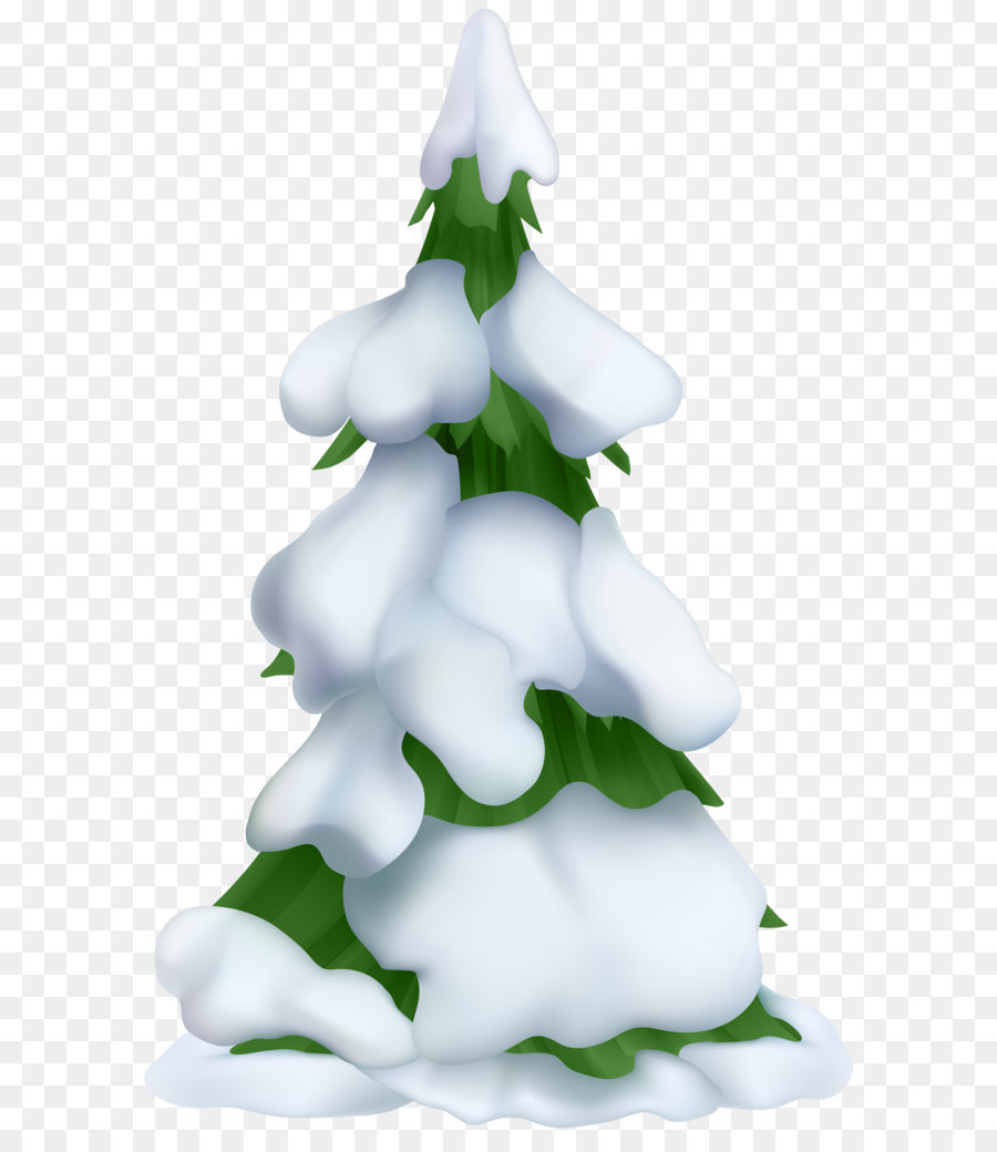 Christmas tree Clip art - Snowy Tree Transparent PNG Clip Art png ...