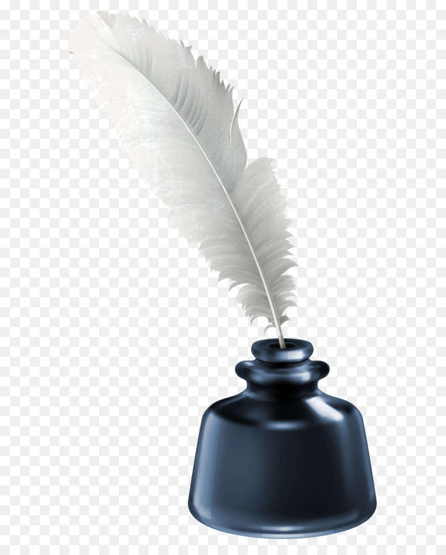 Quill Inkwell Paper - Quill and Blue Ink Pot Transparent ...Quill And Inkwell Image