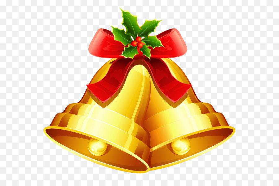 Christmas Jingle Bells Clip Art   Christmas Golden Bells Ornament PNG  Clipart