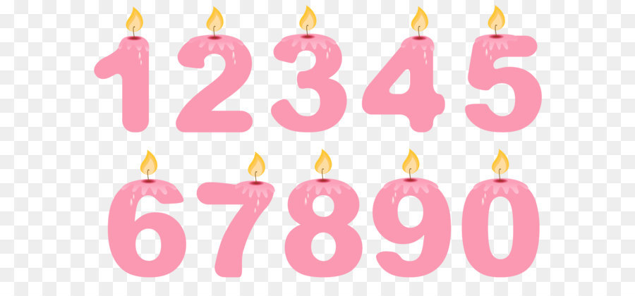 Transparent Numbers Birthday Candles Pink Png Clipart 5a1c1525b187744498917015117898617272