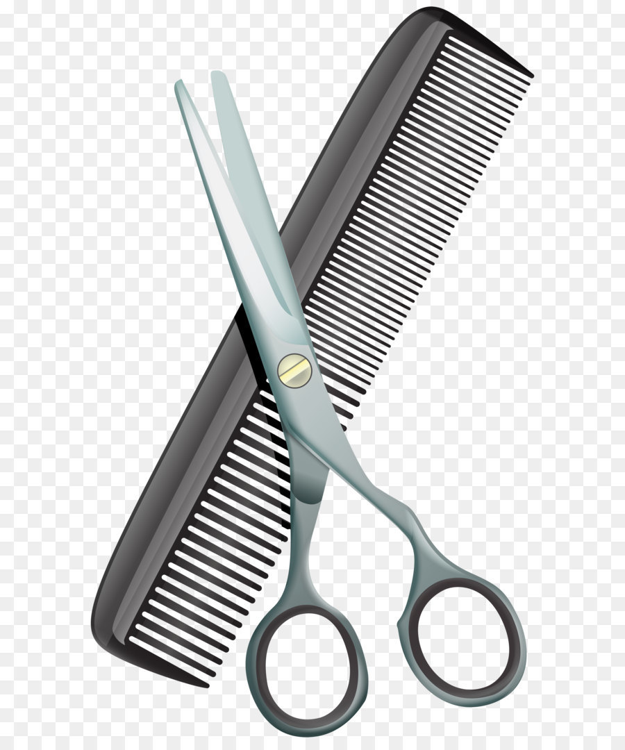 comb scissors hair cutting shears clip art comb and scissors png
