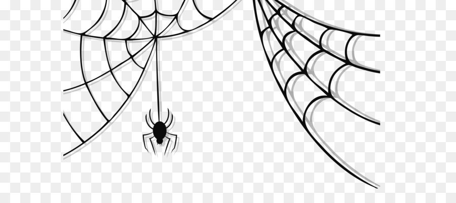 Spider Web Halloween Clip Art Haunted Spider And Web Clipart Png