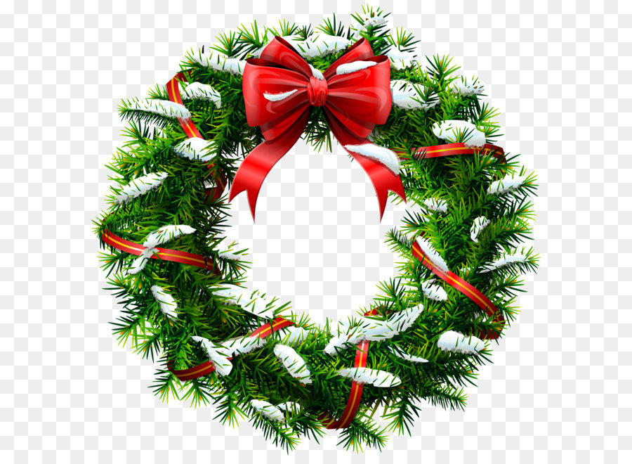 Wreath christmas garland clip art christmas wreath with snow png