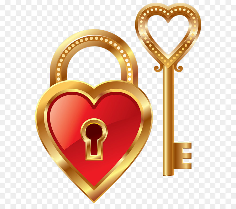 Heart Pendant Keychain Symbol Heart Lock And Heart Key Clipart Png