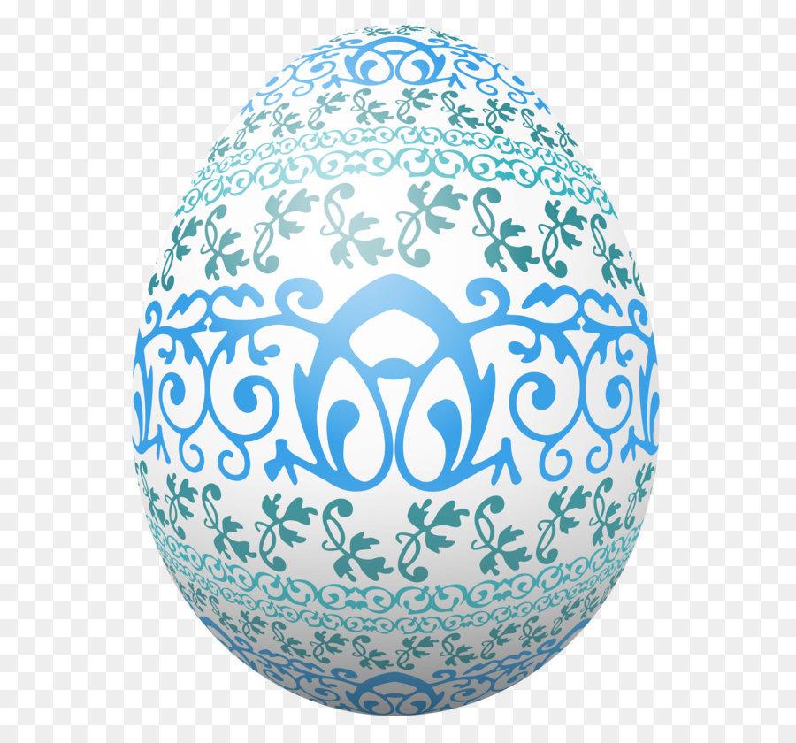 Oster Ei Ei Deko Ostern Weiße Eier Mit Blauer Verzierung Png
