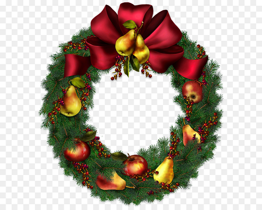 Christmas Wreath Transparent Clipart Picture Png Download 645 708