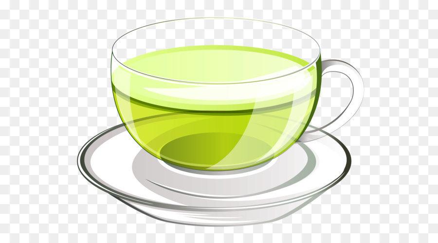 Green Tea Glass Clip Art Cup Of Green Tea Png Vector